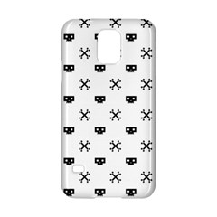 Black Pixel Skull Pirate Samsung Galaxy S5 Hardshell Case  by jumpercat