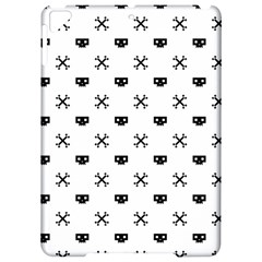 Black Pixel Skull Pirate Apple Ipad Pro 9 7   Hardshell Case