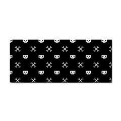 White Pixel Skull Pirate Cosmetic Storage Cases by jumpercat