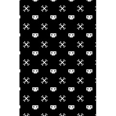 White Pixel Skull Pirate 5 5  X 8 5  Notebooks by jumpercat