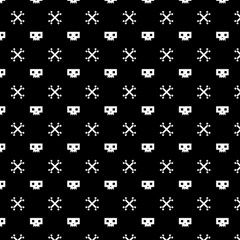 White Pixel Skull Pirate Magic Photo Cubes by jumpercat