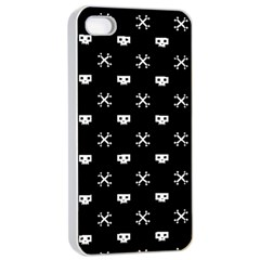 White Pixel Skull Pirate Apple Iphone 4/4s Seamless Case (white) by jumpercat