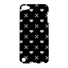 White Pixel Skull Pirate Apple Ipod Touch 5 Hardshell Case by jumpercat