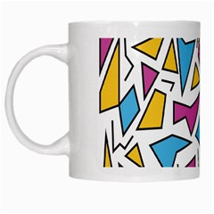 Retro Shapes 01 White Mugs by jumpercat
