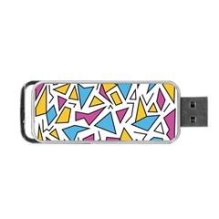 Retro Shapes 01 Portable Usb Flash (two Sides)