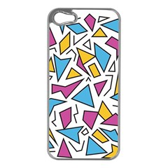 Retro Shapes 01 Apple Iphone 5 Case (silver) by jumpercat