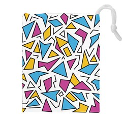 Retro Shapes 01 Drawstring Pouches (xxl) by jumpercat