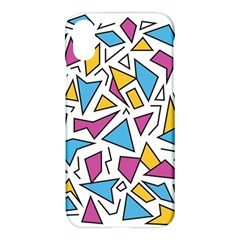 Retro Shapes 01 Apple Iphone X Hardshell Case by jumpercat