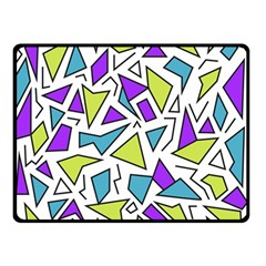 Retro Shapes 02 Double Sided Fleece Blanket (small)  by jumpercat