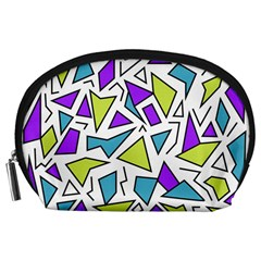 Retro Shapes 02 Accessory Pouches (large)  by jumpercat