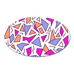Retro Shapes 03 Oval Magnet
