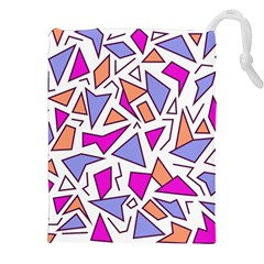Retro Shapes 03 Drawstring Pouches (xxl) by jumpercat