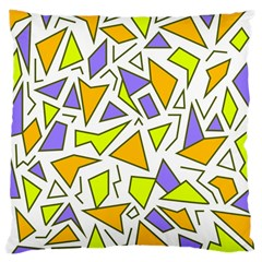 Retro Shapes 04 Large Cushion Case (one Side) by jumpercat