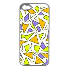 Retro Shapes 04 Apple Iphone 5 Case (silver) by jumpercat