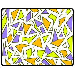 Retro Shapes 04 Double Sided Fleece Blanket (medium)  by jumpercat