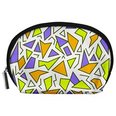 Retro Shapes 04 Accessory Pouches (large)  by jumpercat