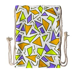Retro Shapes 04 Drawstring Bag (large) by jumpercat