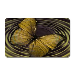 Butterfly Insect Wave Concentric Magnet (rectangular) by Celenk