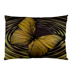 Butterfly Insect Wave Concentric Pillow Case