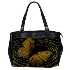 Butterfly Insect Wave Concentric Office Handbags by Celenk