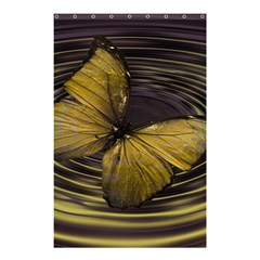 Butterfly Insect Wave Concentric Shower Curtain 48  X 72  (small)  by Celenk