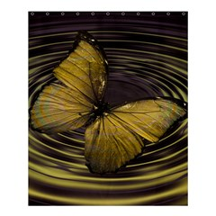 Butterfly Insect Wave Concentric Shower Curtain 60  X 72  (medium)  by Celenk
