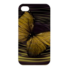 Butterfly Insect Wave Concentric Apple Iphone 4/4s Premium Hardshell Case by Celenk