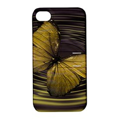 Butterfly Insect Wave Concentric Apple Iphone 4/4s Hardshell Case With Stand by Celenk