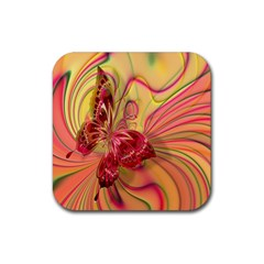 Arrangement Butterfly Aesthetics Rubber Square Coaster (4 Pack)  by Celenk