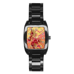 Arrangement Butterfly Aesthetics Stainless Steel Barrel Watch by Celenk
