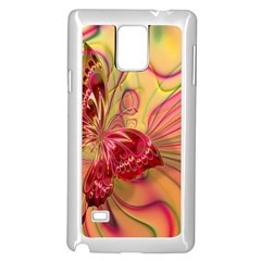 Arrangement Butterfly Aesthetics Samsung Galaxy Note 4 Case (white) by Celenk