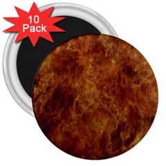 Abstract Flames Fire Hot 3  Magnets (10 Pack)