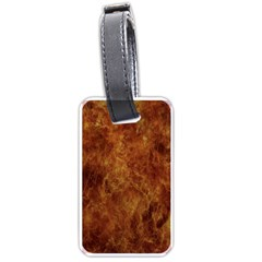 Abstract Flames Fire Hot Luggage Tags (two Sides)