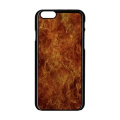 Abstract Flames Fire Hot Apple Iphone 6/6s Black Enamel Case