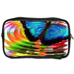Blue Morphofalter Butterfly Insect Toiletries Bags
