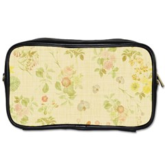 Floral Wallpaper Flowers Vintage Toiletries Bags 2 Side