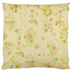 Floral Wallpaper Flowers Vintage Large Flano Cushion Case (two Sides)