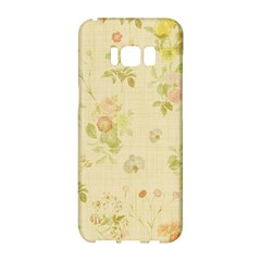 Floral Wallpaper Flowers Vintage Samsung Galaxy S8 Hardshell Case  by Celenk
