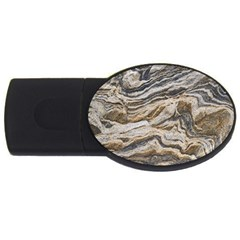 Texture Marble Abstract Pattern Usb Flash Drive Oval (2 Gb) by Celenk