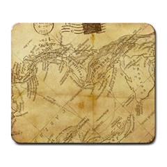 Vintage Map Background Paper Large Mousepads by Celenk