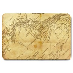 Vintage Map Background Paper Large Doormat