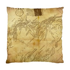 Vintage Map Background Paper Standard Cushion Case (one Side) by Celenk