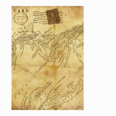 Vintage Map Background Paper Small Garden Flag (two Sides) by Celenk