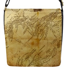 Vintage Map Background Paper Flap Messenger Bag (s) by Celenk