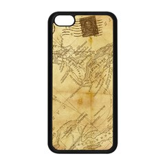 Vintage Map Background Paper Apple Iphone 5c Seamless Case (black) by Celenk