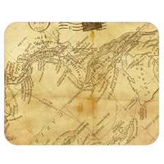 Vintage Map Background Paper Double Sided Flano Blanket (medium)  by Celenk