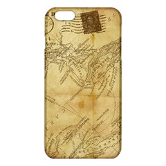 Vintage Map Background Paper Iphone 6 Plus/6s Plus Tpu Case by Celenk