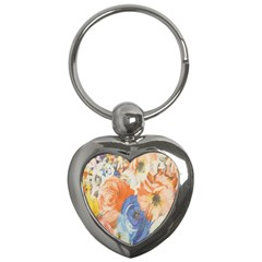 Texture Fabric Textile Detail Key Chains (heart)  by Celenk