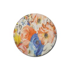 Texture Fabric Textile Detail Rubber Coaster (round)  by Celenk