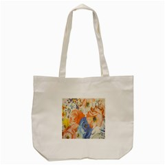 Texture Fabric Textile Detail Tote Bag (cream) by Celenk